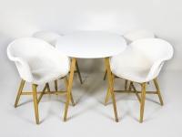 Обідній комплект Віола (стіл і 4-6 крісел) тік білий kt201020201
